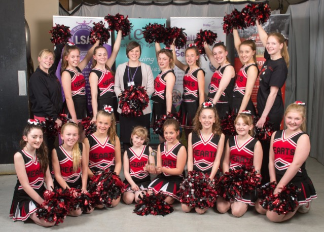 Leicester Cheerleaders Team Of the Year Hearts